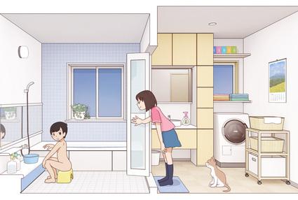 2019-011-姉と弟のお風呂1-2.jpg